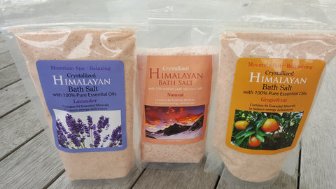 Himalayan bath salts available online at Rebalance NZ