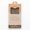 CaliWoods Reusable Cocktail Straws 6 Pk + Cleaner