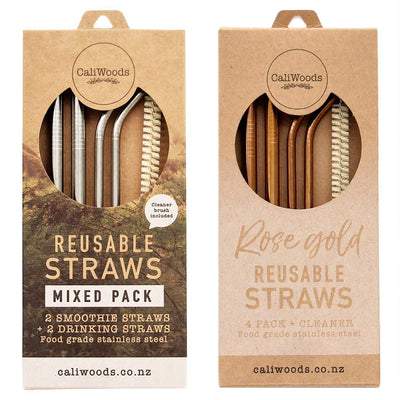 CaliWoods Reusable Straws Mixed Pack