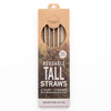 CaliWoods Reusable Tall Straws 4 Pk + Cleaner