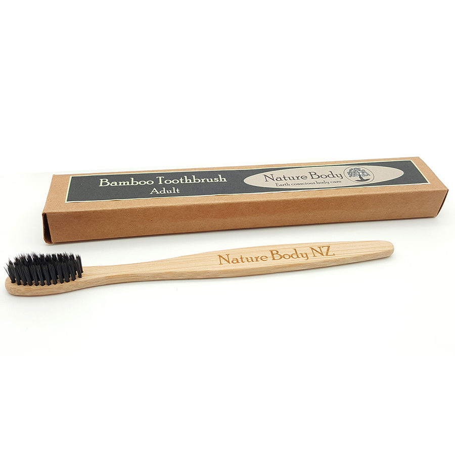 Nature Body Charcoal Dipped Bamboo Toothbrush