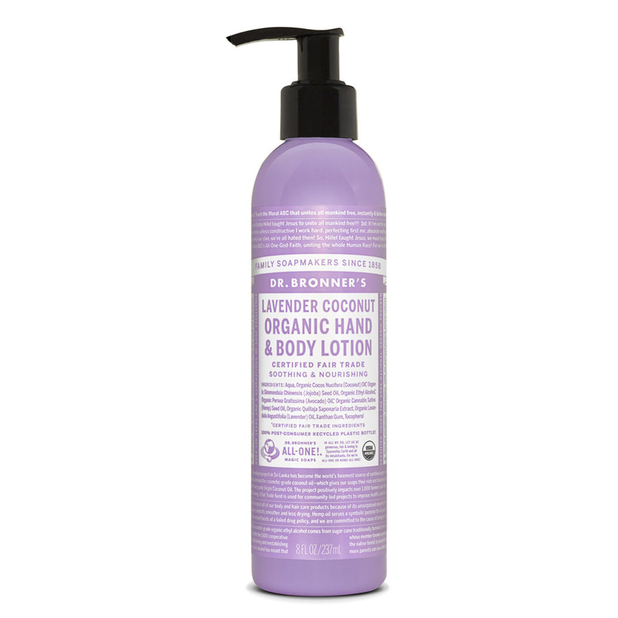 Dr Bronners Body Lotion Lavender & Coconut 237ml