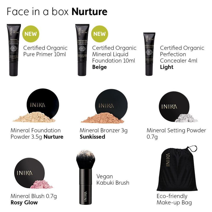 Inika Face In A Box Nurture for Fair to Medium Skin Tones