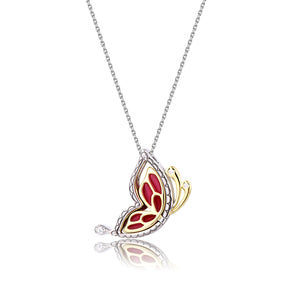 Fierce Persian Red Butterfly Pendant