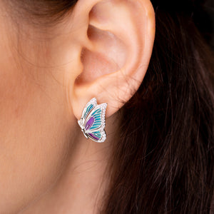 Cerulean Lush Blue Butterfly Earrings