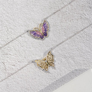 Periwinkle Lilac Butterfly Pendant