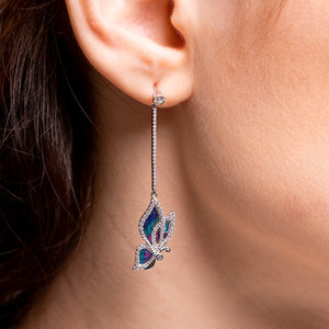 Adonis Blue Butterfly Earrings