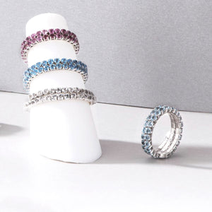 Wrap and Roll 12 Colors Birthstone Ring