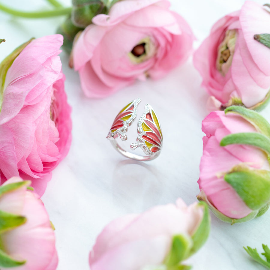 Royal Blush Butterfly Ring