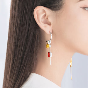 Shimmering Charm Earrings