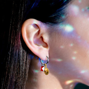 Star Chart Charm Ear Hoops