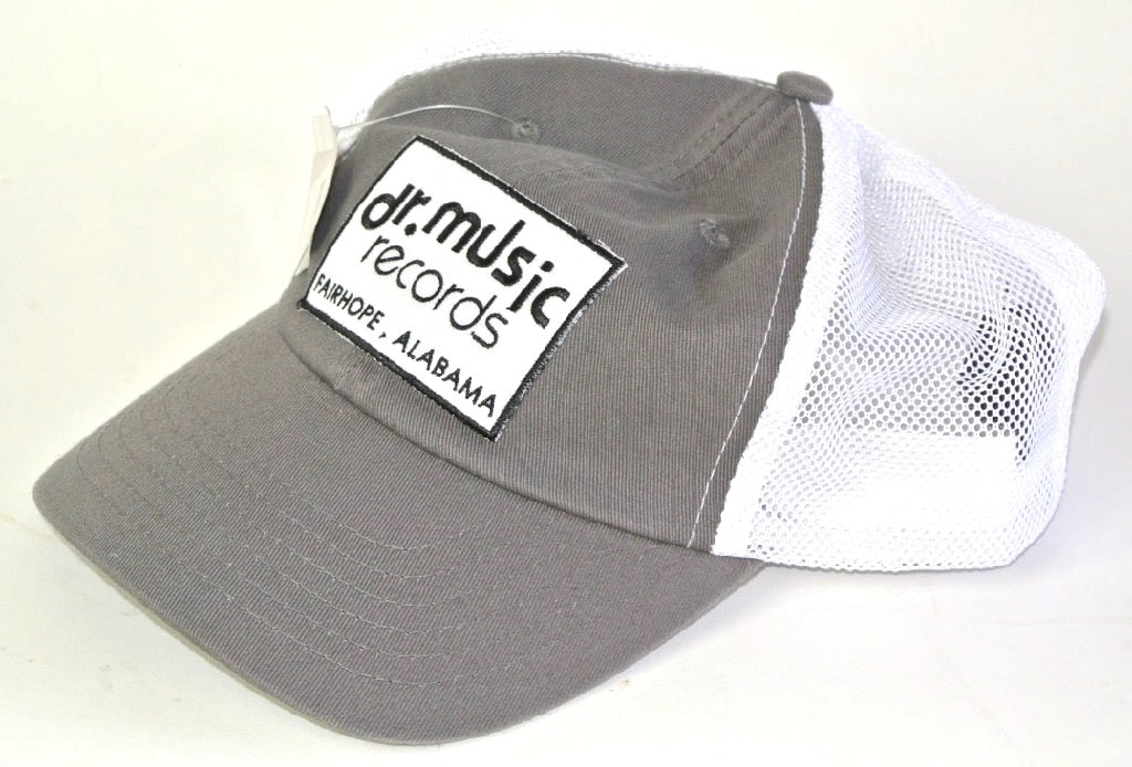 Grey with white mesh trucker hat