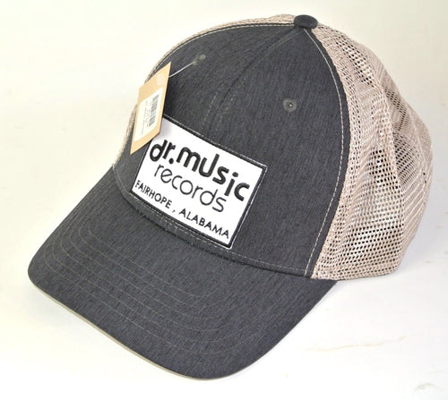 Grey Denim Structured Trucker Hat
