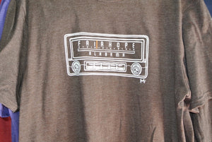 Radio T-shirt - Heathered Brown - S-XL