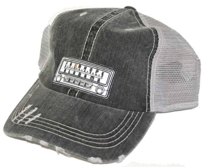 Black Fairhope Radio Distressed Trucker Hat