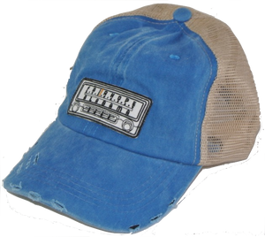 Blue Fairhope Radio Distressed Trucker Hat