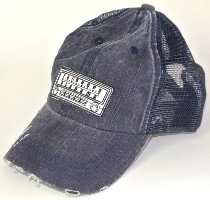 Navy Fairhope Radio Distressed Trucker Hat