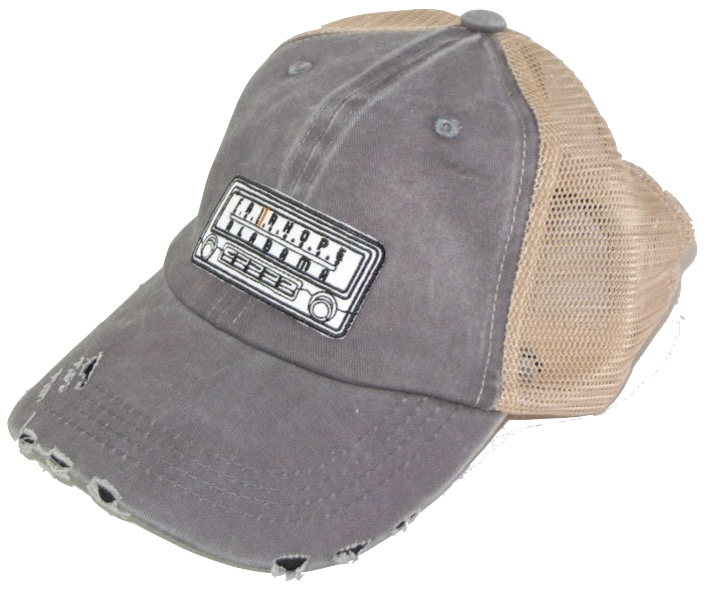 Grey Fairhope Radio Distressed Trucker Hat
