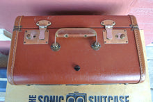 Load image into Gallery viewer, Maroon Bite Sonic Suitcase