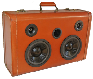 Brown Block Sonic Suitcase