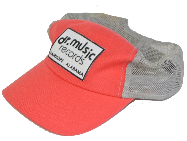 Coral with grey mesh trucker hat
