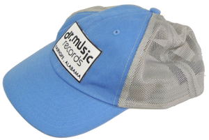 Light blue with grey mesh trucker hat