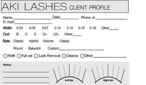 Aki Lashes - Profile card