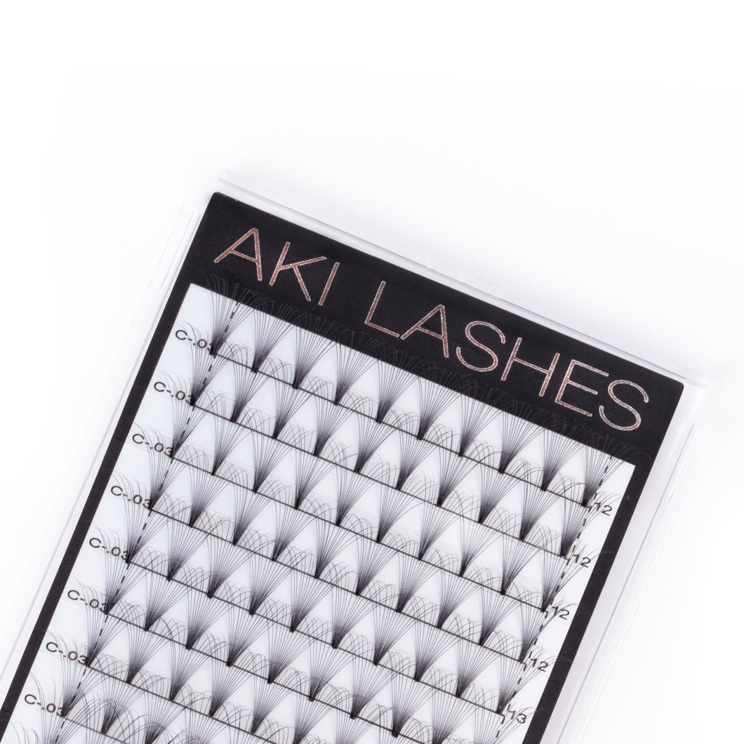 14D Mixed Premade Fans - Aki Lashes