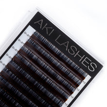 Load image into Gallery viewer, Two Toned Brown Colored Lashes - Volume 0.07 Diameter Mixed - Aki Lashes