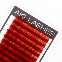 Load image into Gallery viewer, Burgundy Colored Lashes - Classic 0.07 Diameter Mixed - Aki Lashes