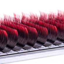 Load image into Gallery viewer, Red Toned Colored Lashes - Classic 0.15 Diameter Mixed - Aki Lashes