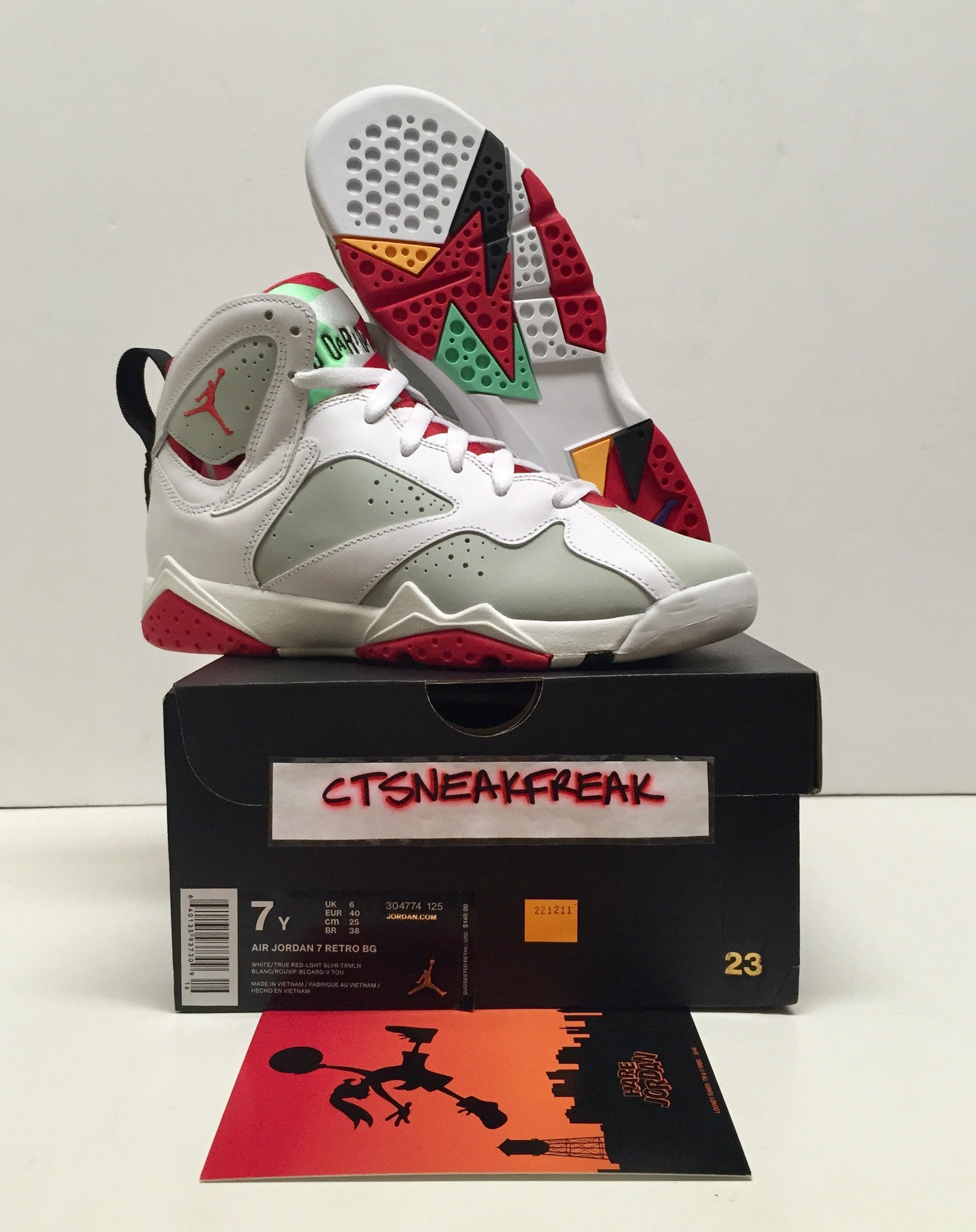 finest selection 17f54 654dc Load image into Gallery viewer, Nike Air Jordan Retro 7 Hare GS 304774-125  ...
