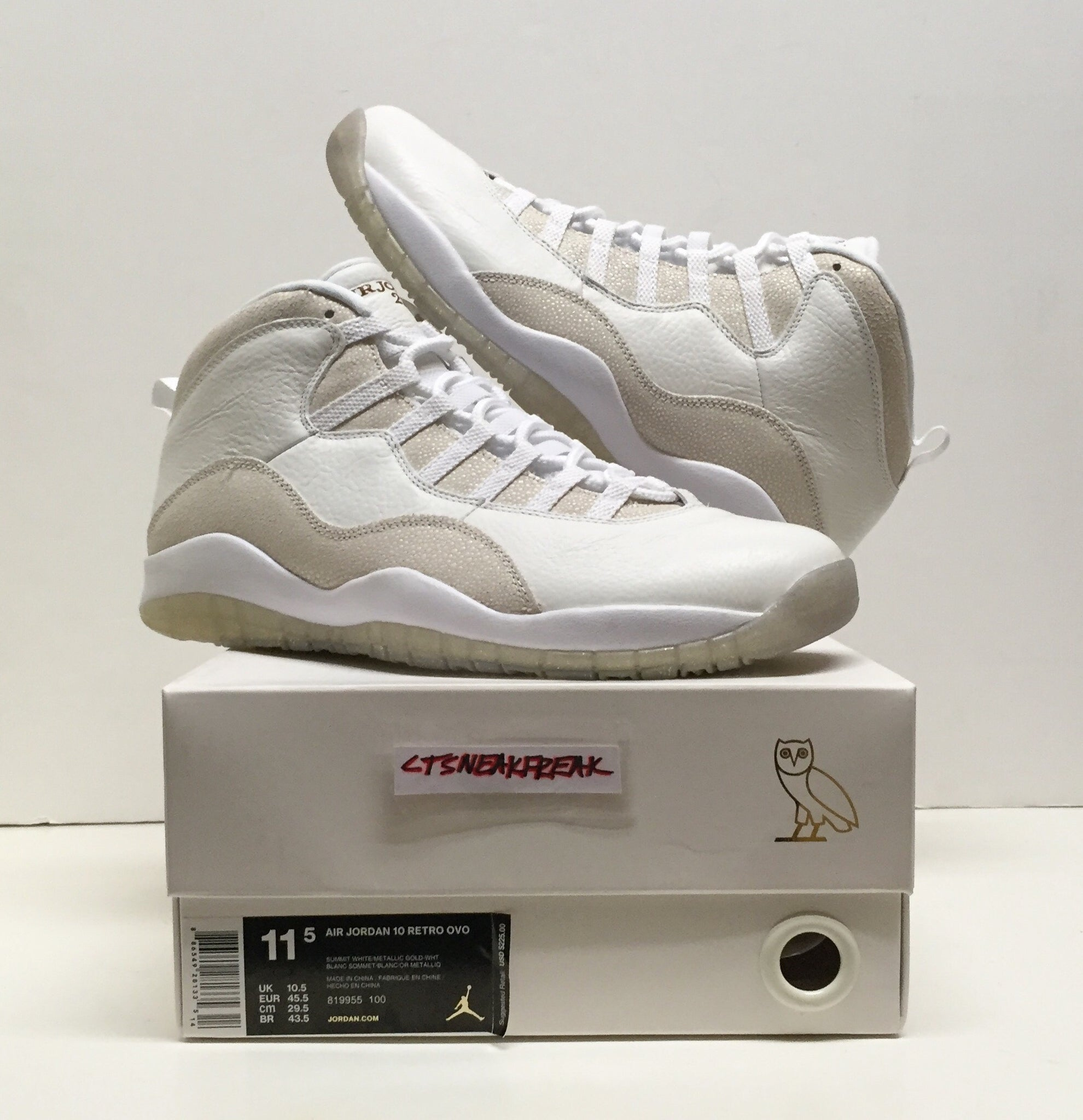pretty nice 6d1bd e5de3 Load image into Gallery viewer, Nike Air Jordan 10 OVO 819955-100 ...