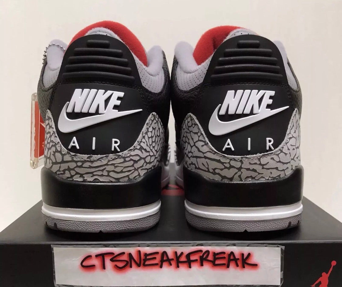 brand new 884e8 73b1d Nike Air Jordan 3 OG Black Cement 854262-001