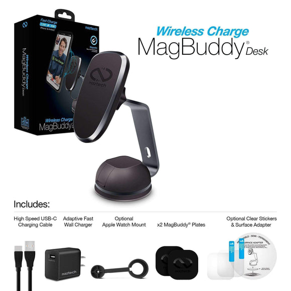 MagBuddy Cell Phone Wireless Charger and Mount for Desk