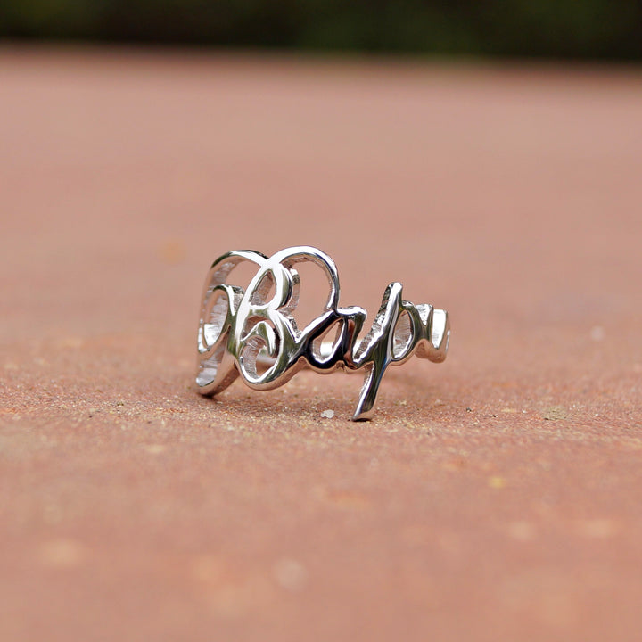 Customised Name Stencil Ring
