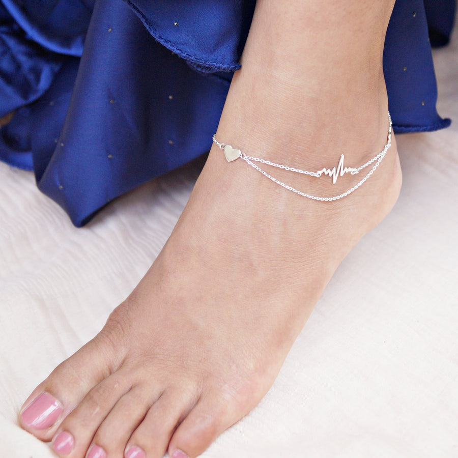 The Heart and Beat Anklet (Single/Pair)