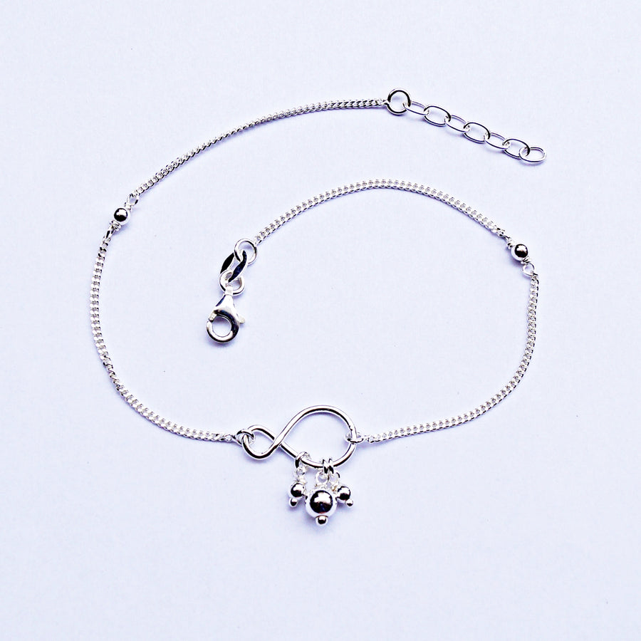 The Infinity and Drops Anklet (Single/Pair)