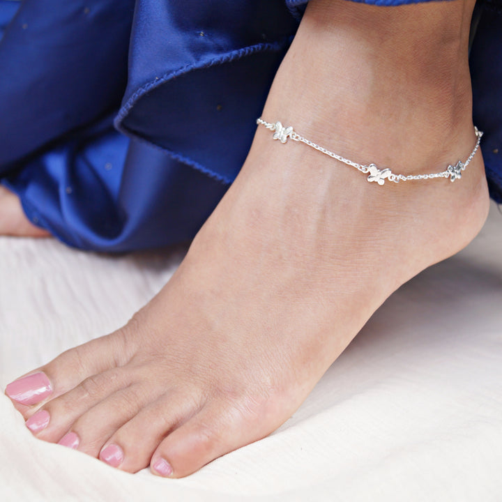The Quinary Butterfly Anklet (Single/Pair)