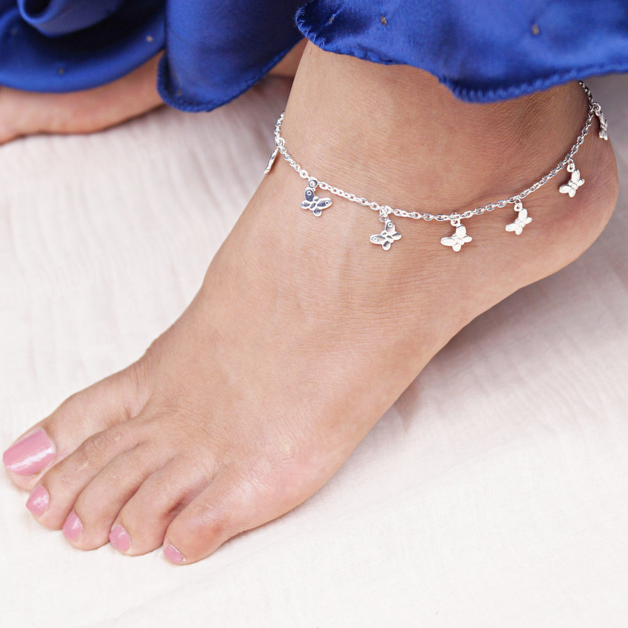 The Swarm of Butterfly Charms Anklet (Single/Pair)
