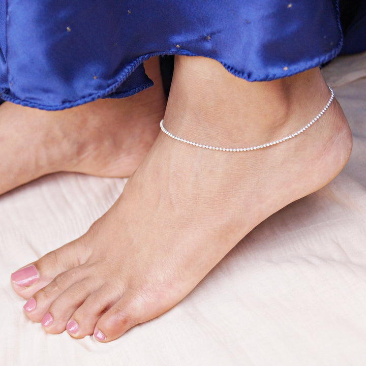 The Minimalist Bead Chain Anklet (Single/Pair)
