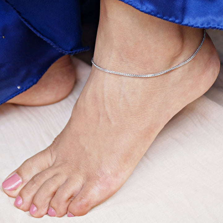 The Minimalist Spiga Chain Anklet (Single/Pair)