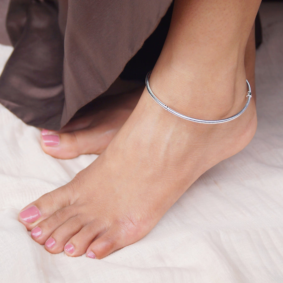 Butterfly Bead Lock Charm Anklet