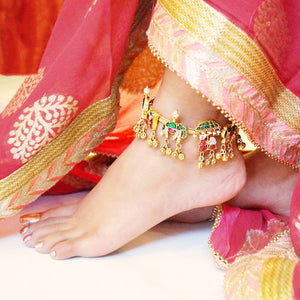 The Golden Baraat Heavy Anklet