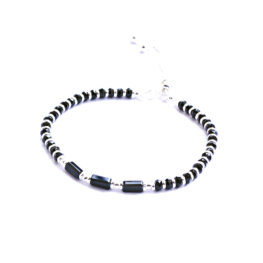 Adjustable Nazariya with Square-tube Beads Bracelet