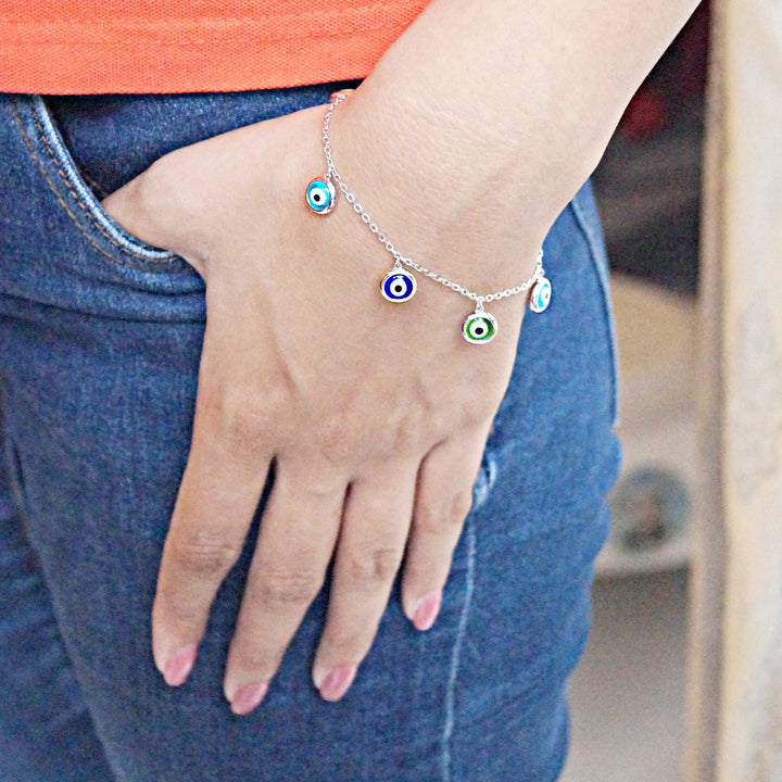 Blue-green Evil Eye Charm Bracelet