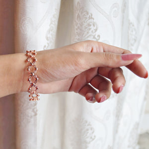 The Ring cum Bracelet (Rosegold/Silver - Stone/Without stone)