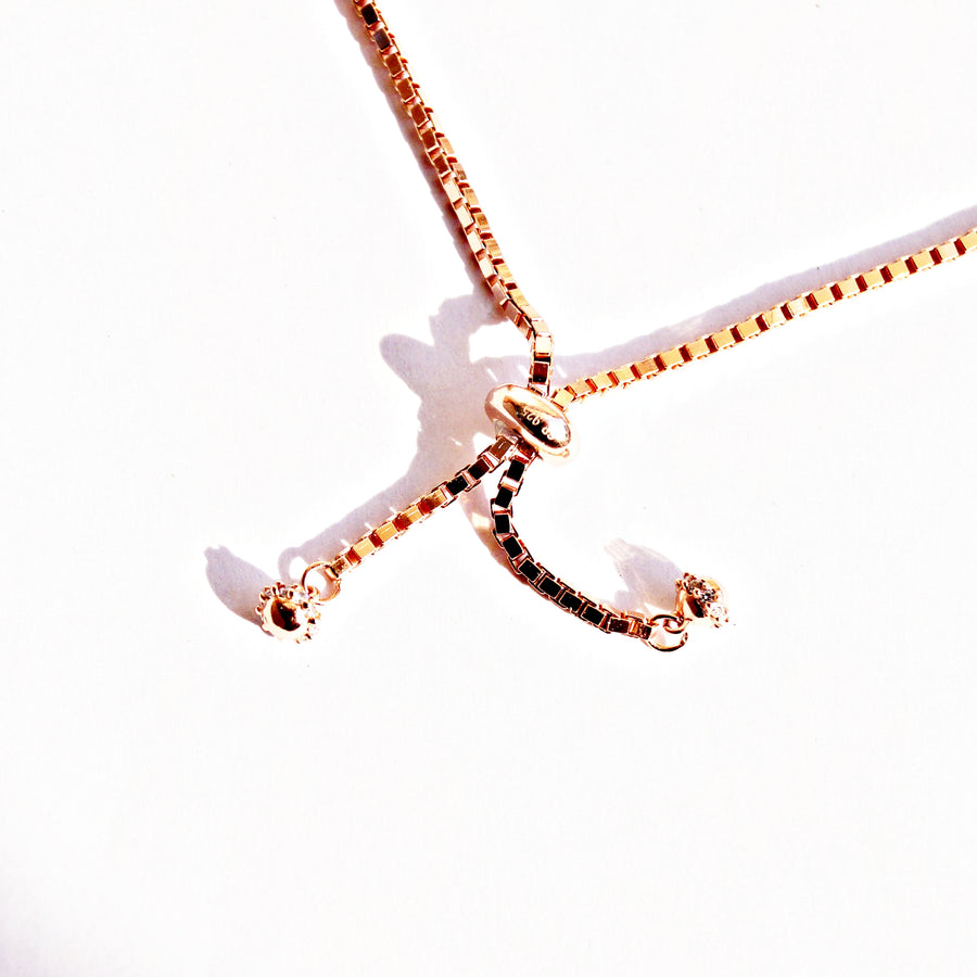 The Rose Gold Zanjeer Adjustable Bracelet