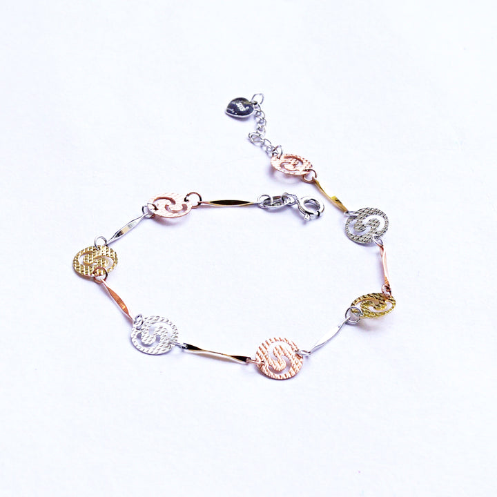 The Tri-colour Yin-yang Coin Kids Anklet (Single)