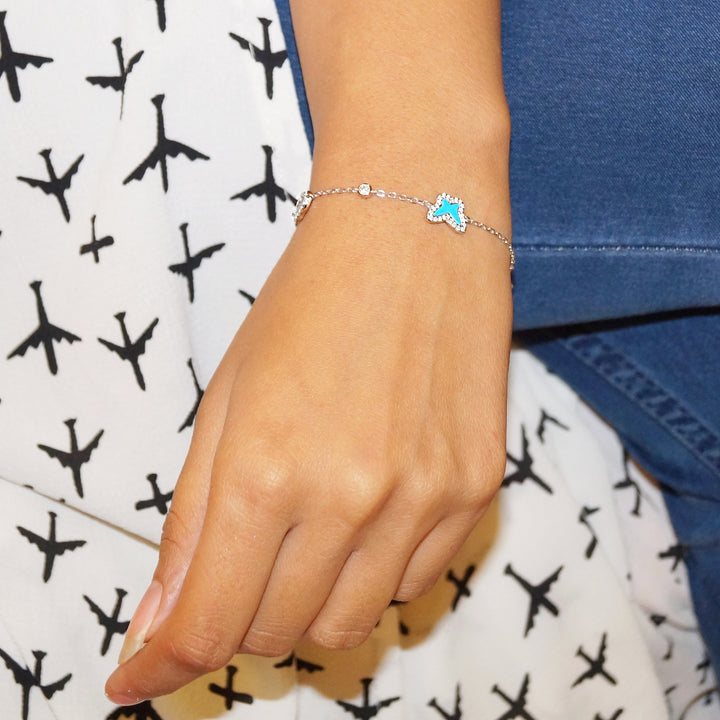 The Butterfly, Hamsa and Fish Bracelet